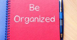 Be Organized - 6