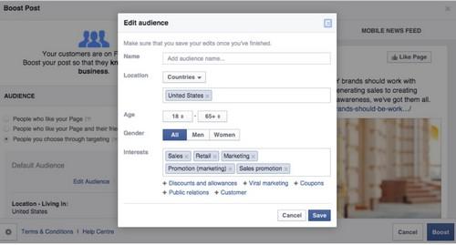 Boost a Facebook Post - 1