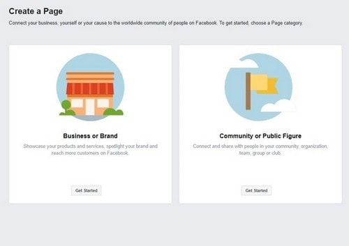 Create Facebook Community Page - 1