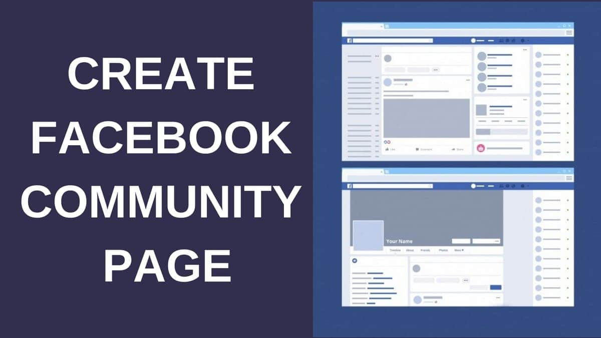 How to Create Facebook Community Page?