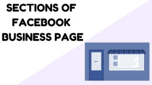 sections of Facebook business page - 9