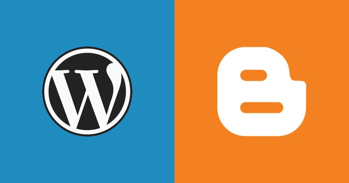 Blogger and WordPress - 1
