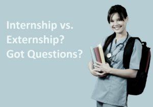 Externship versus Internship - 1