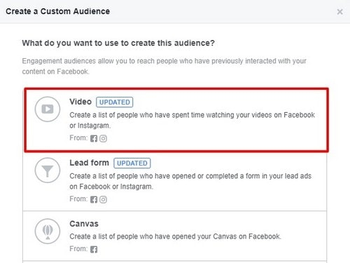 Facebook Video Views Custom Audience - 6