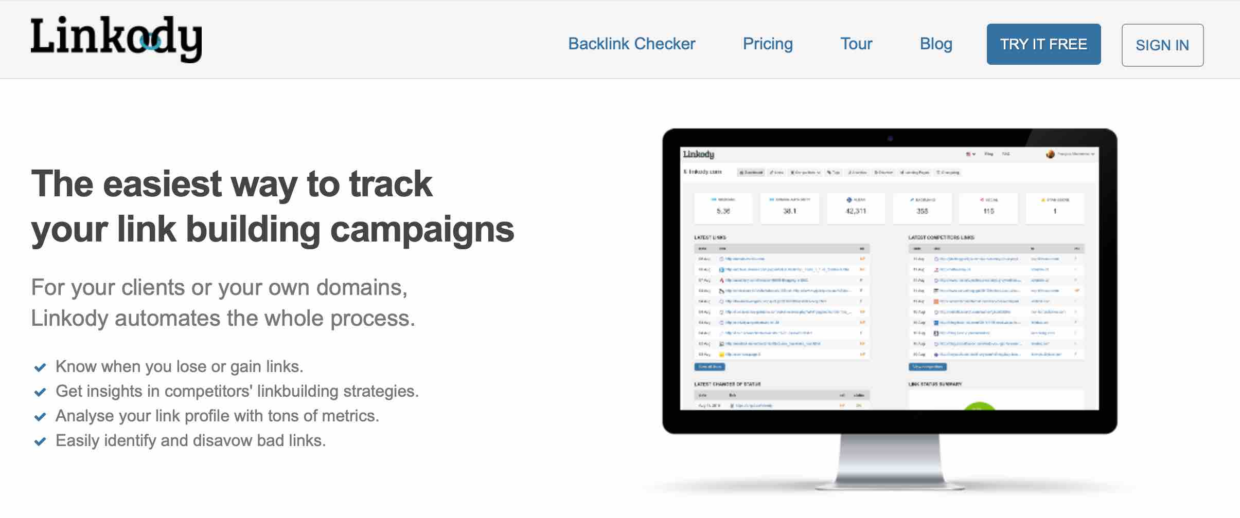 track your link building campaigns