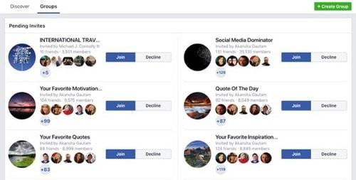 Start a Facebook group - 2