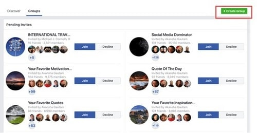 Start a Facebook group - 3