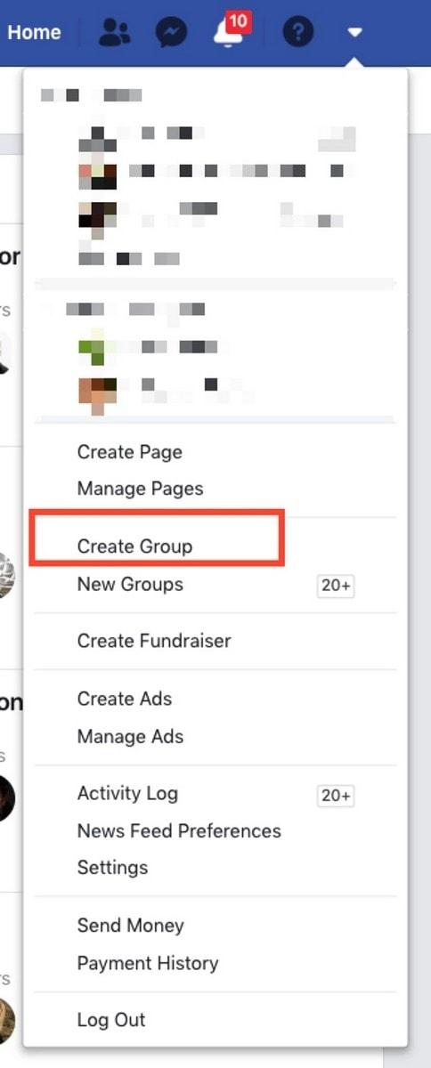 Start a Facebook group - 4