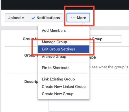Start a Facebook group - 5