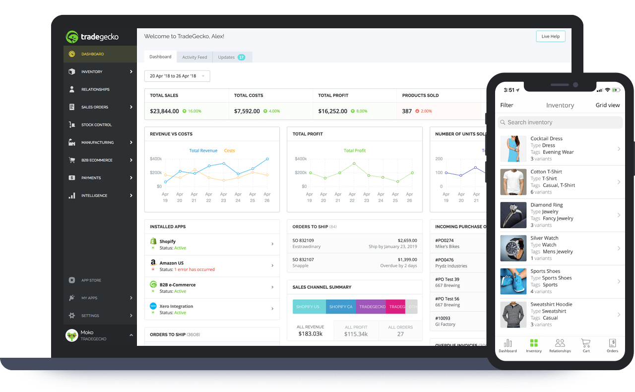 Products, orders, customers and insights in one place