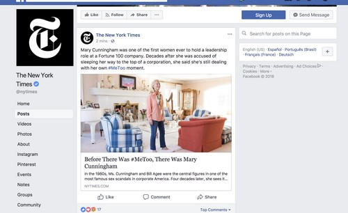 Facebook About Section Examples - 2