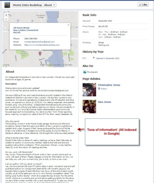 Facebook About Section Examples - 3