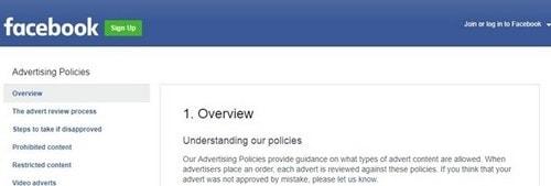 Facebook ad policies - 2