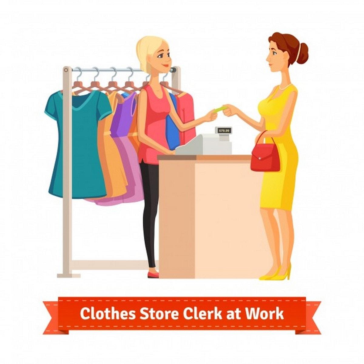 Sales Clerk - 1 description sample template