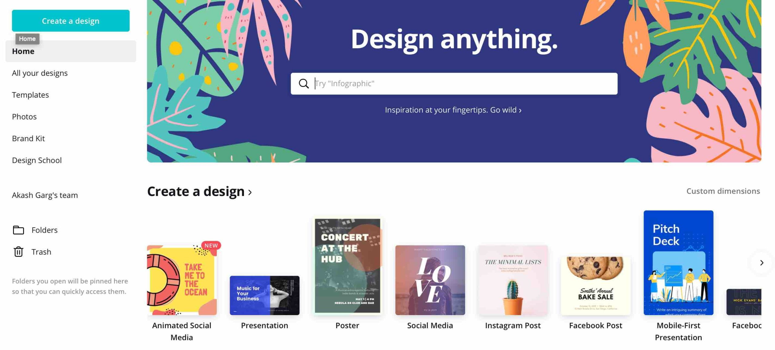 Create beautiful designs with your team