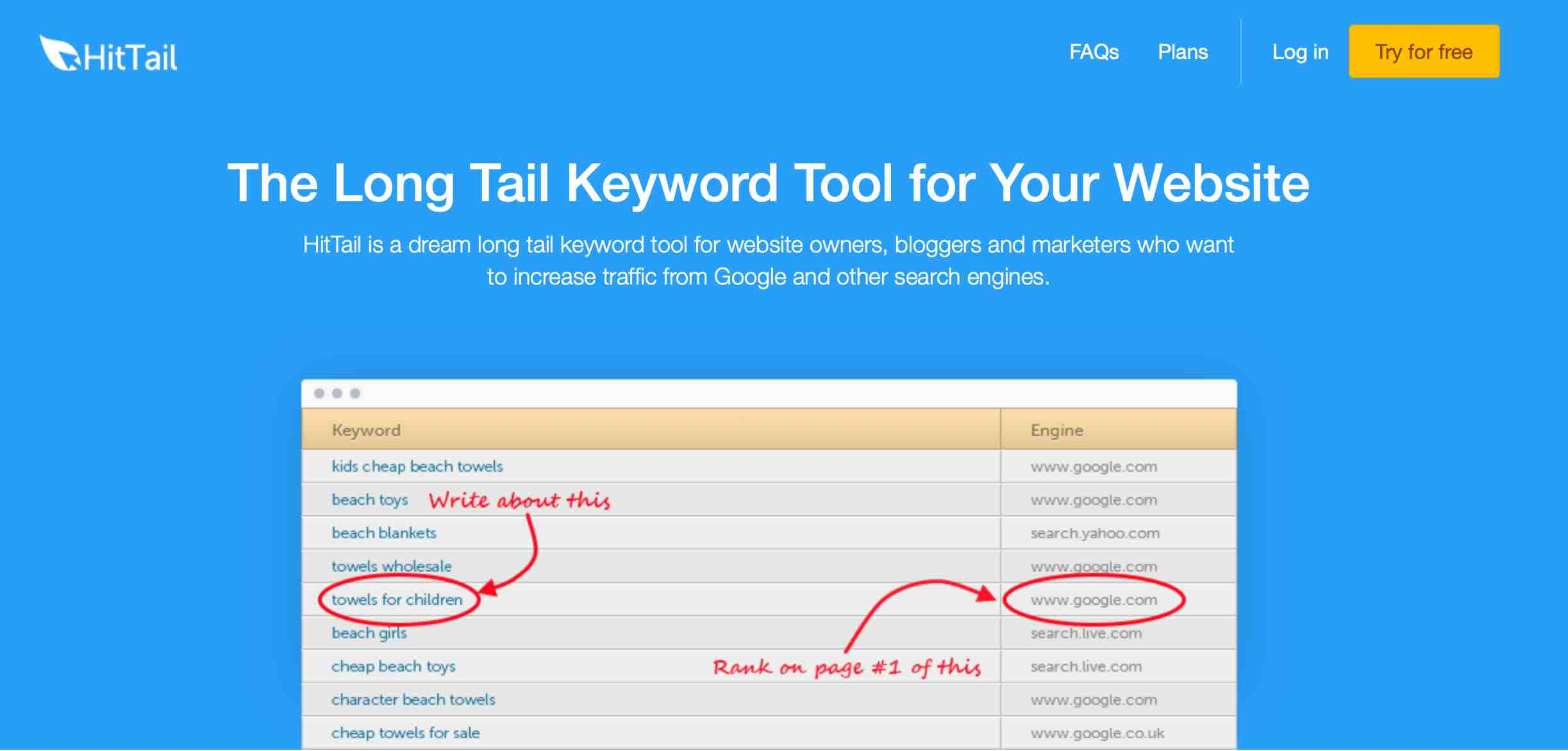 HitTail works in the background, constantly giving you new keyword ideas
