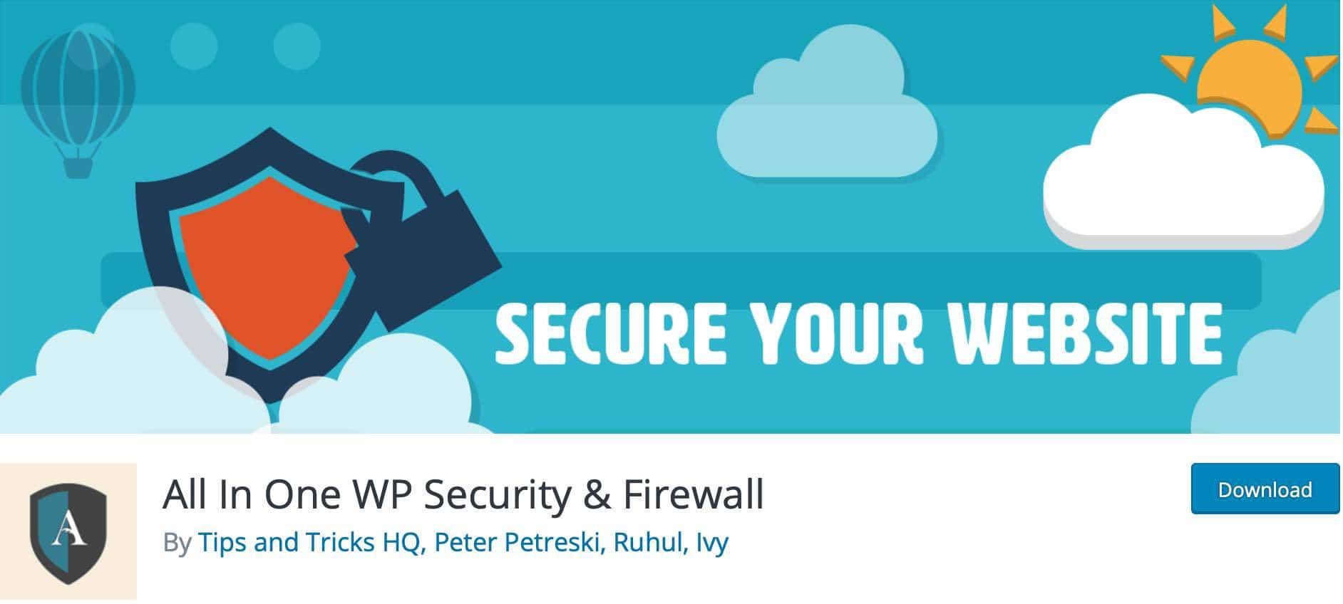 add some extra security and firewall to your site