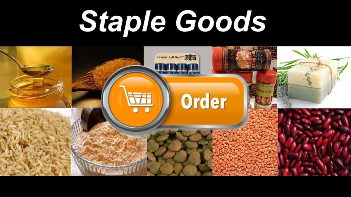 What is staple goods - 1