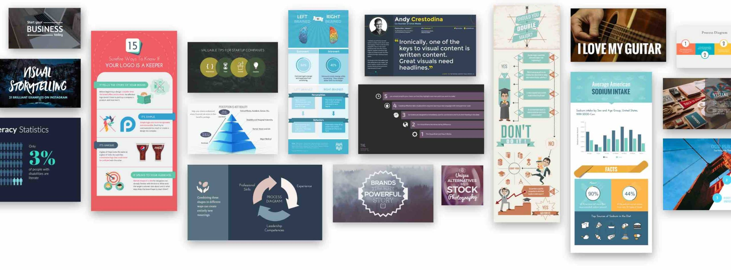 Make infographics or create presentations online