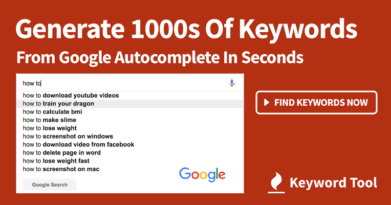 Get 750+ Long Tail Keywords From Google For Free