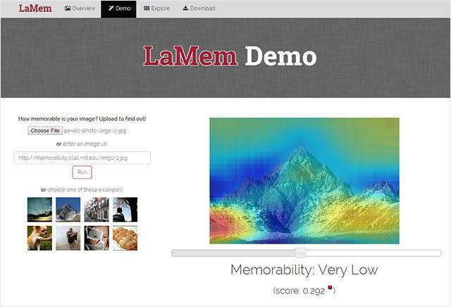 Screenshot of using LaMem tool