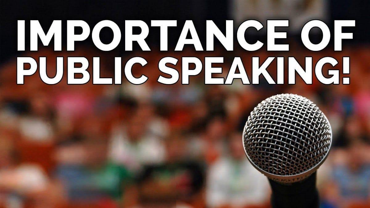 Importance of Public Speaking - 1