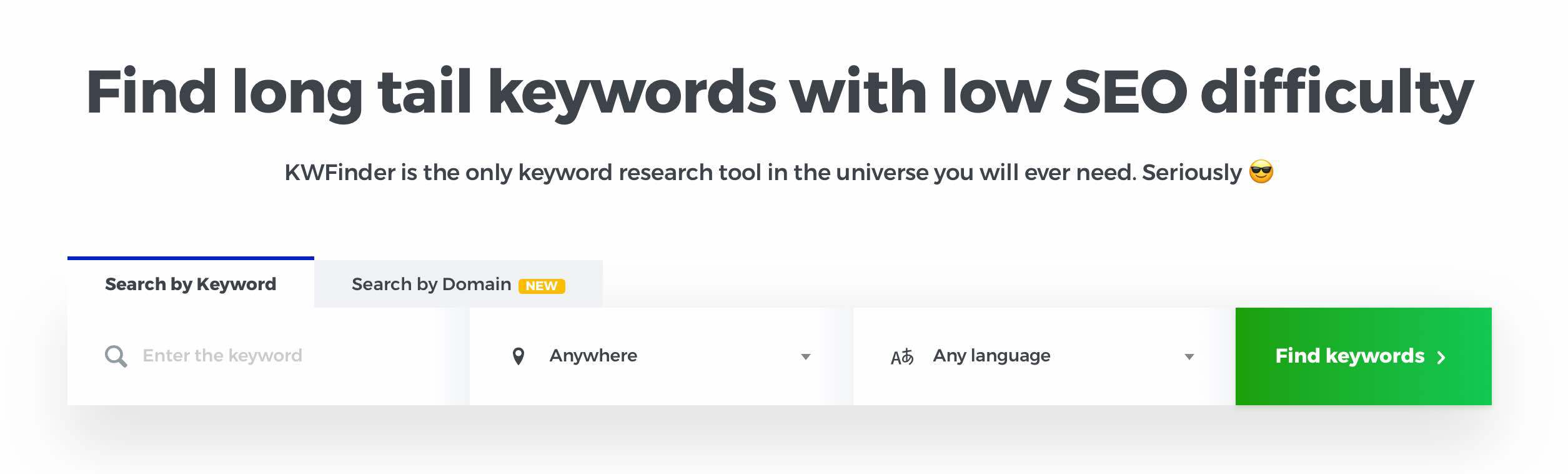 Find long tail keywords with low SEO difficulty