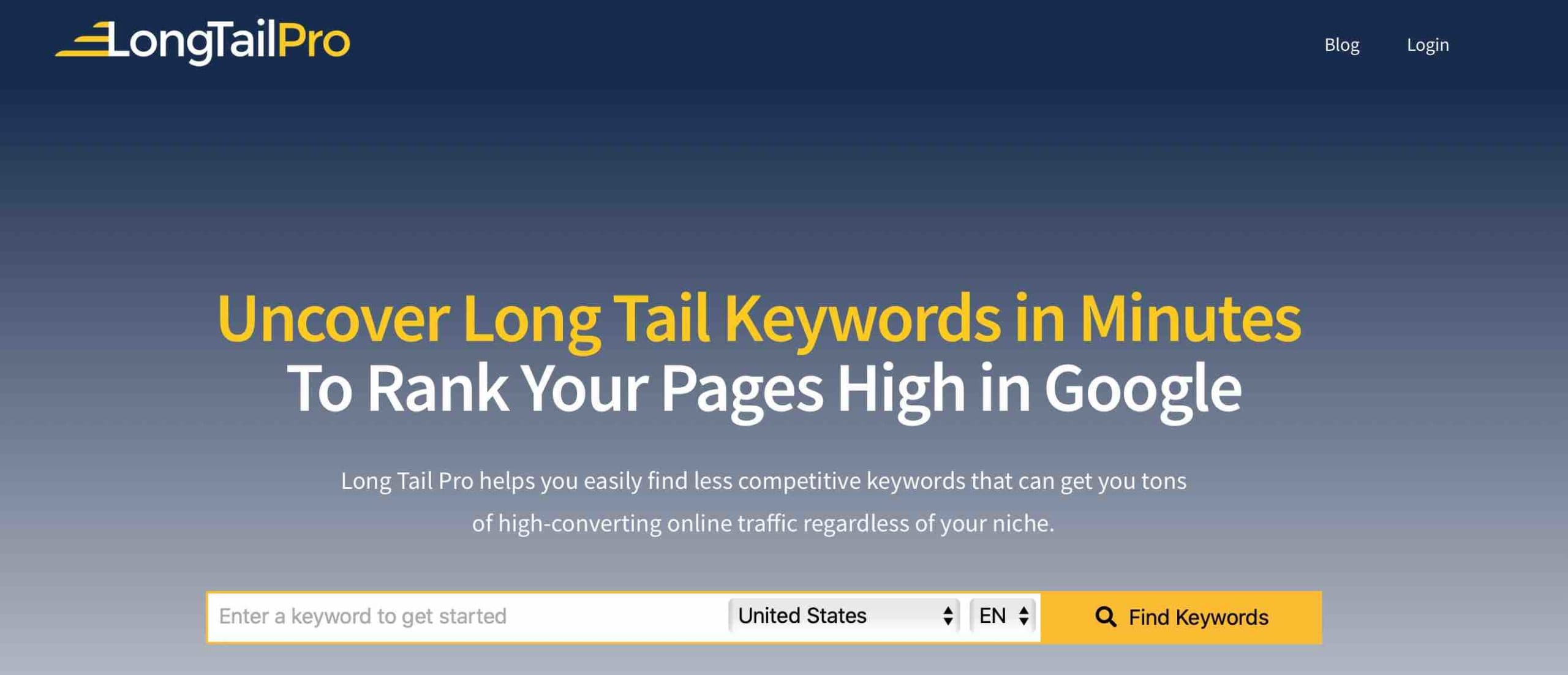 Uncover Long Tail Keywords in Minutes