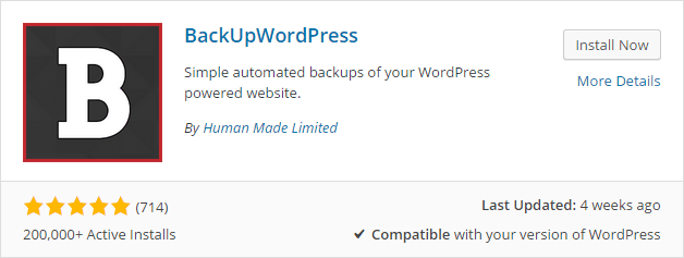 Take backup of your WordPress site