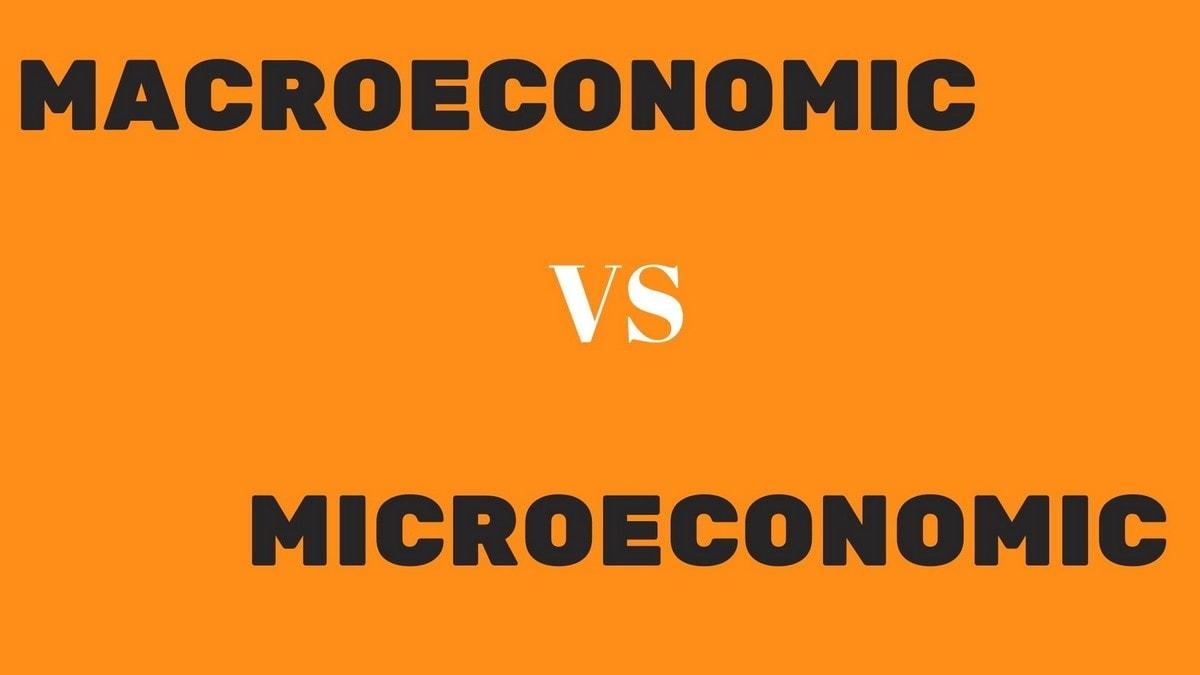 Macroeconomic and microeconomic