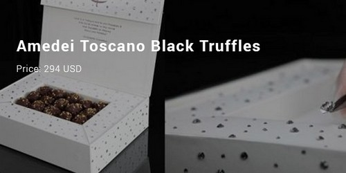 #13 Amedel Toscano Black Truffles in Swarovski Chocolate Box by the Chocolate.com