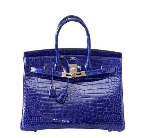 Most Expensive Handbags - Blue Crocodile Hermes Birkin Handbag