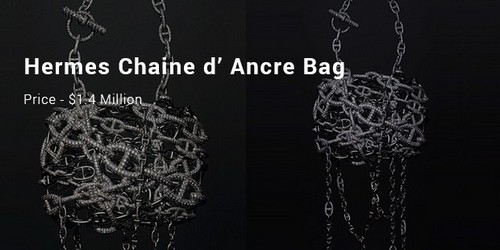 Most Expensive Handbags - Hermes Chaine'd Ancre bag
