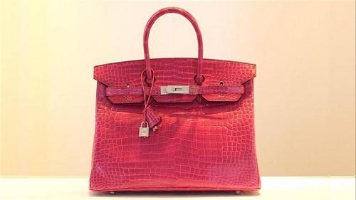 Most Expensive Handbags - Fuchsia Diamond – Studded Hermes Birkin
