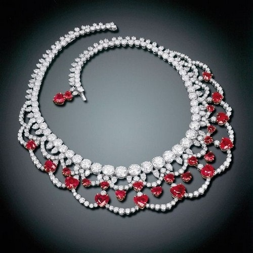 Most Expensive Jewellery - Magnificent Ruby and Diamond Necklace