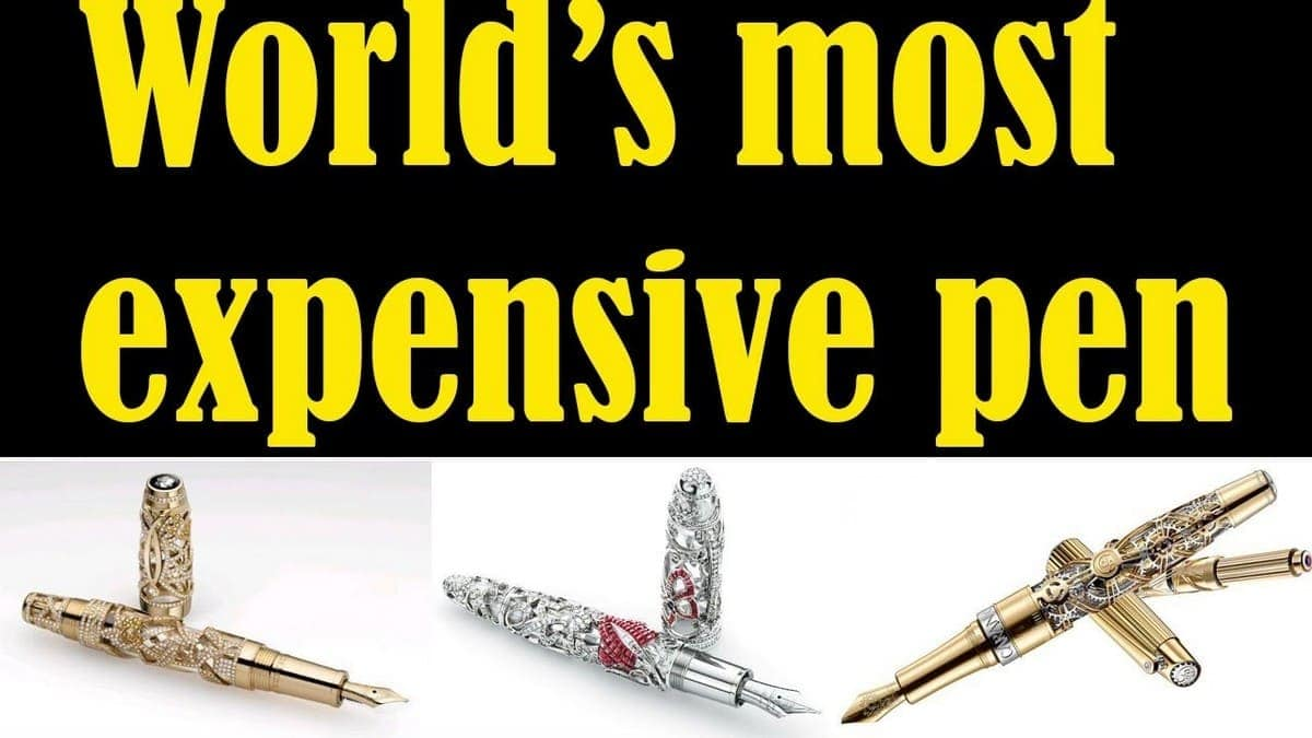 The List Of 15 Top Most Expensive Pen In The World