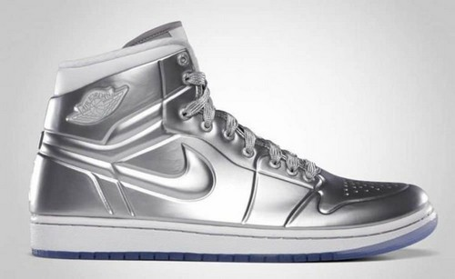 #14. Air Jordan Silver Shoes
