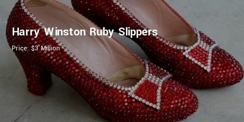 #3. Harry Winston Ruby Slippers