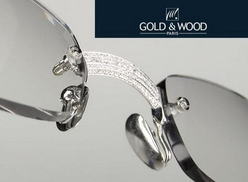 #9. Gold and Wood 253 Diamond Glasses