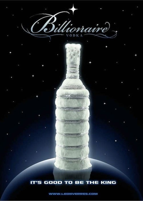 #1. Billionaire Vodka, The Diamond Edition line