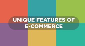 Features of ecommerce