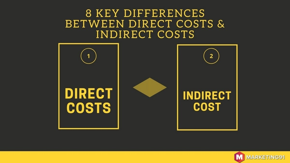 difference between direct costs and indirect costs - 1