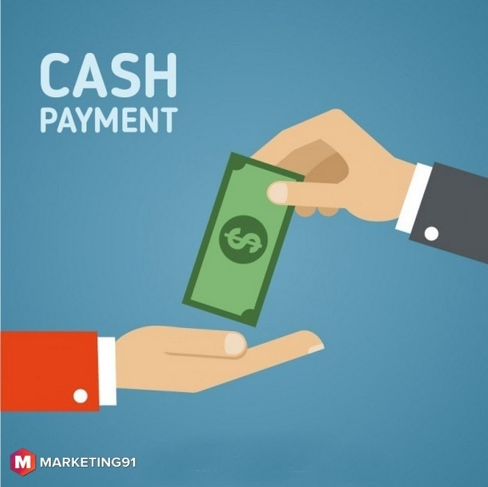 Payment using Cash