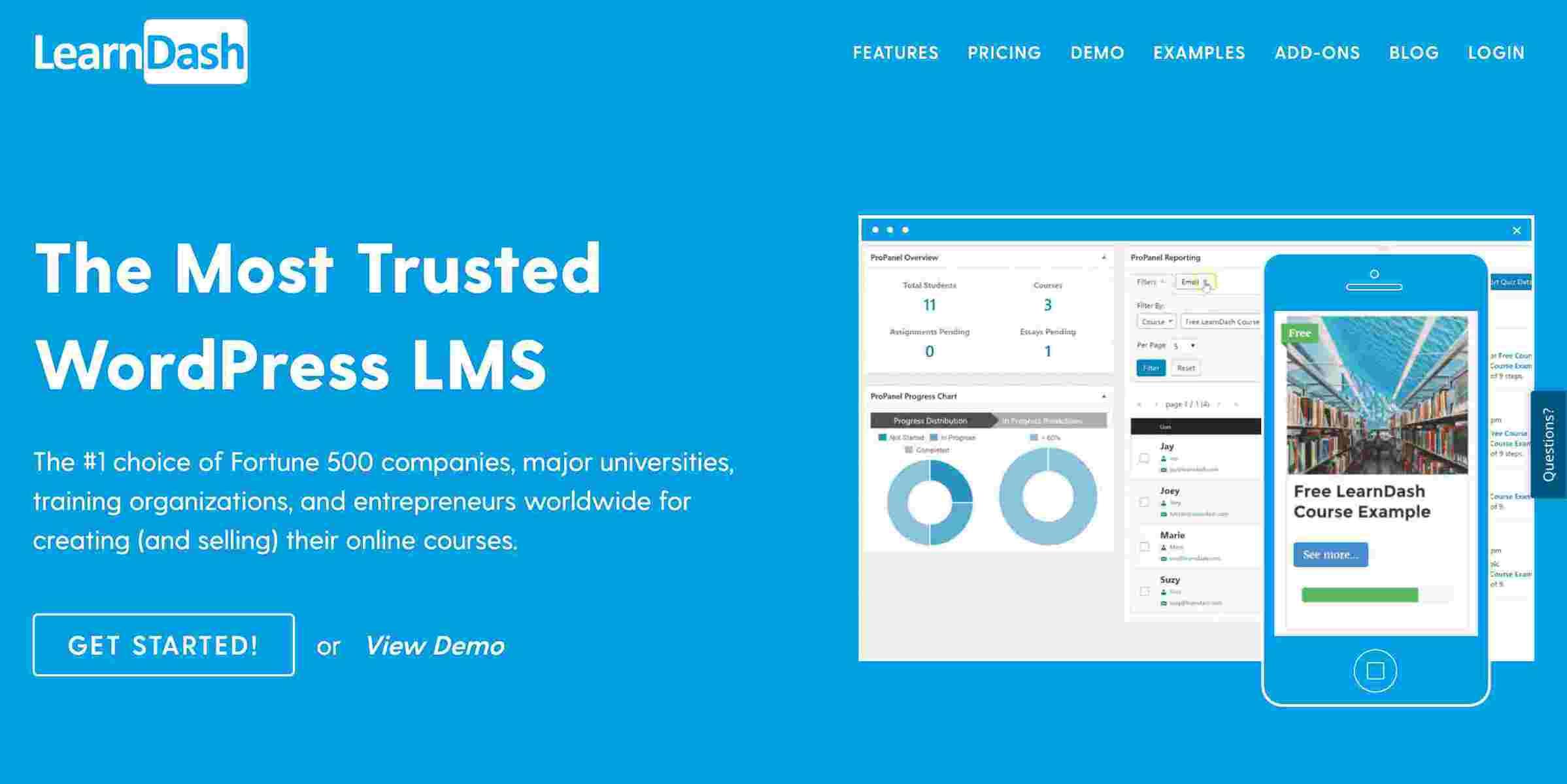 Learn Dash - еще один хороший плагин для WordPress LMS