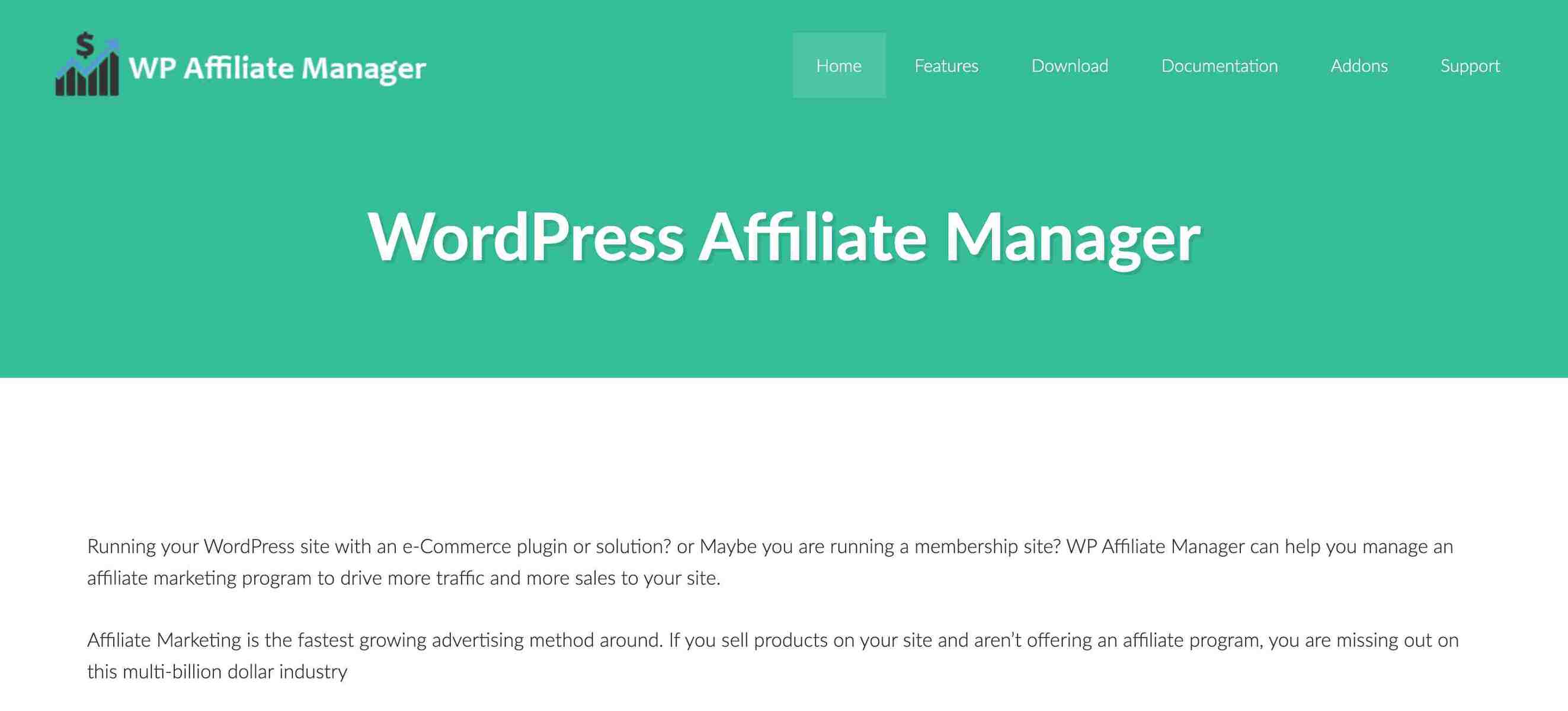 Affiliate manager is one of the best WordPress Affiliate Plugins
