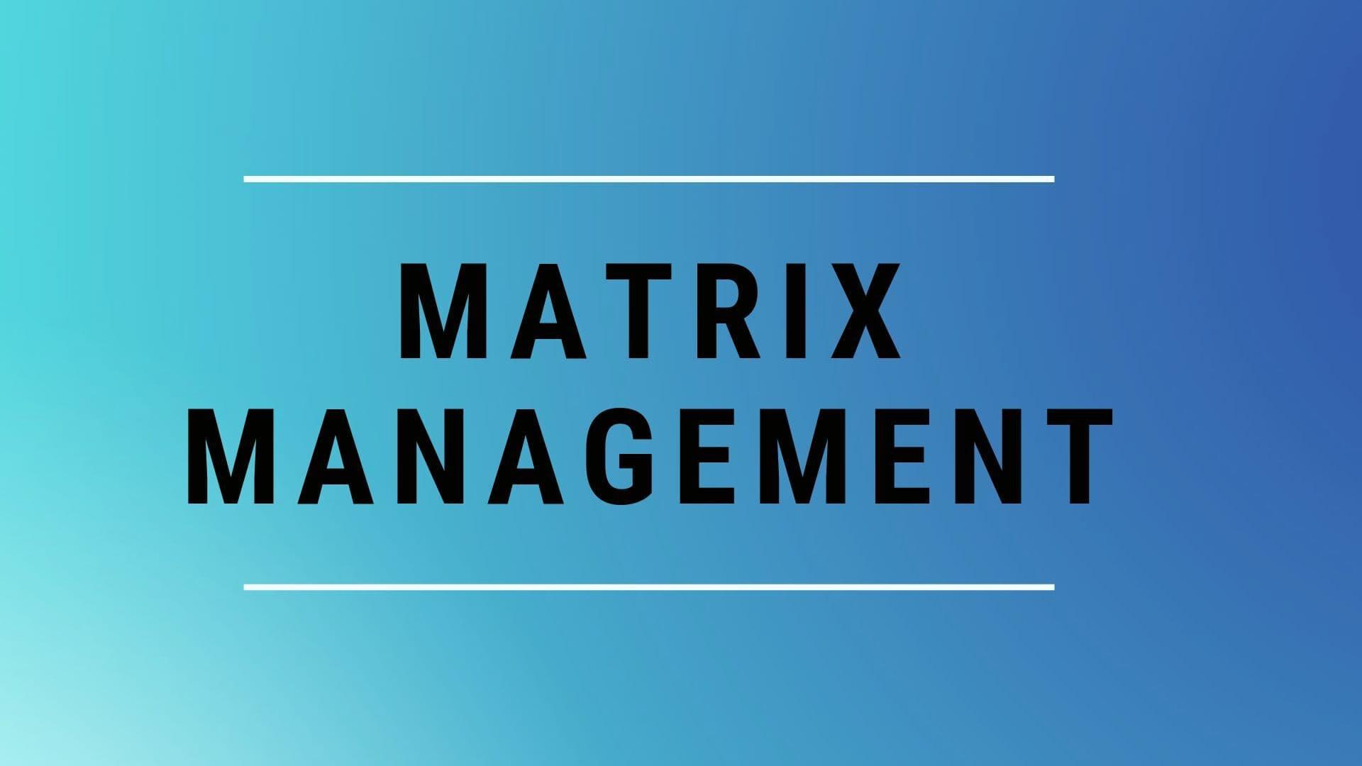 What is Matrix Management