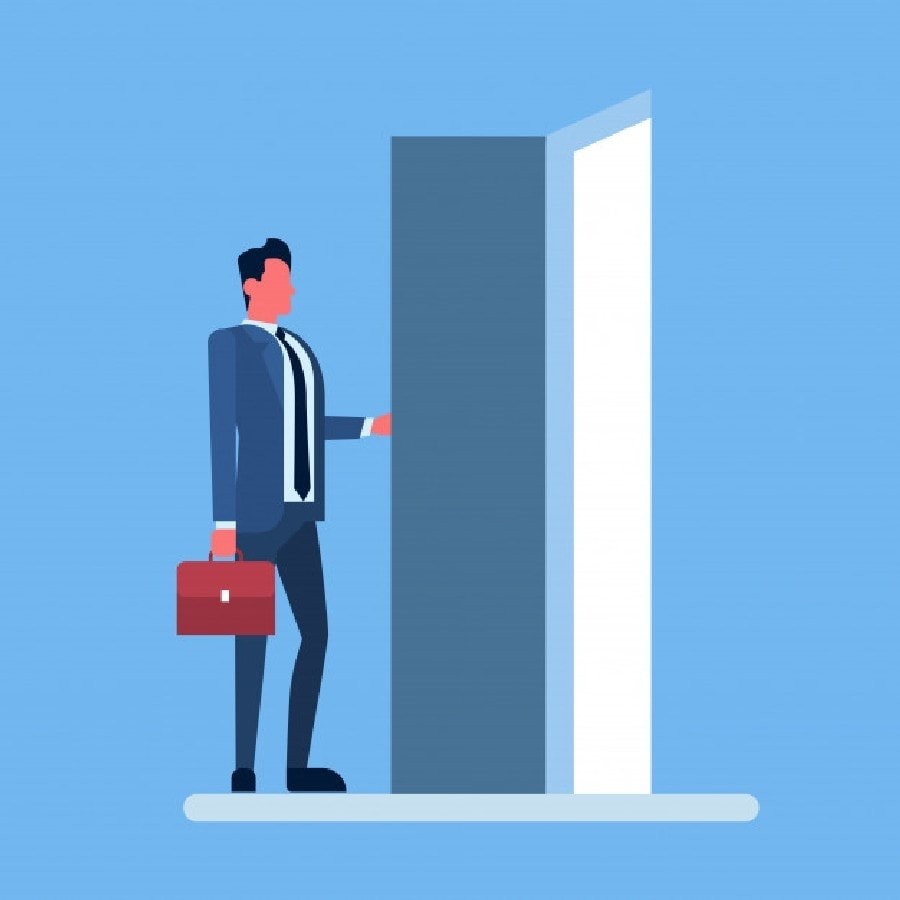 Who should conduct an exit interview