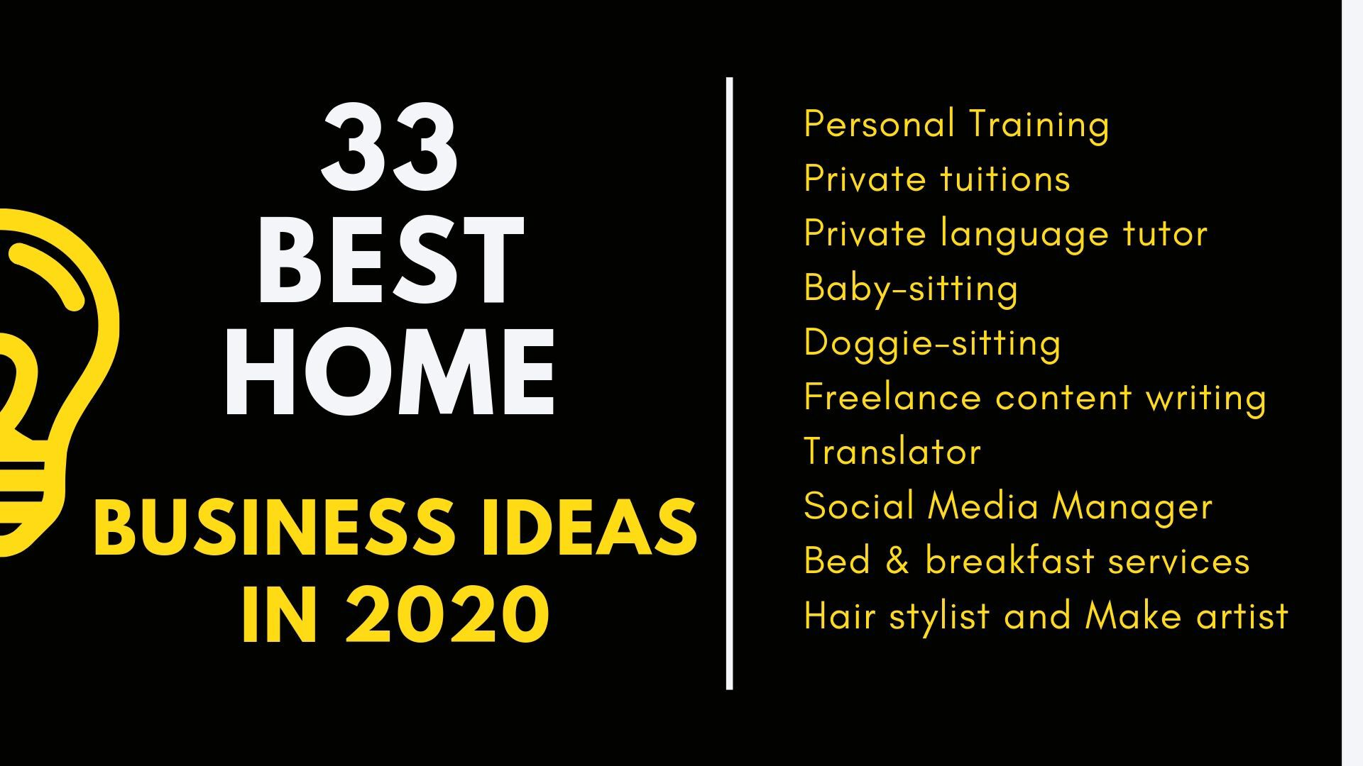 Best home Business Ideas in 2020