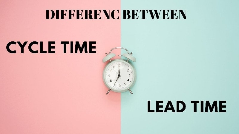 Difference between Cycle time and lead time