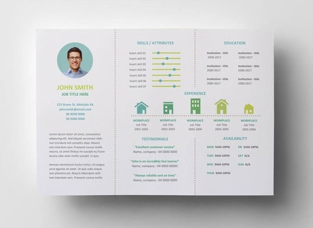 Brochure with Allure Resume Template